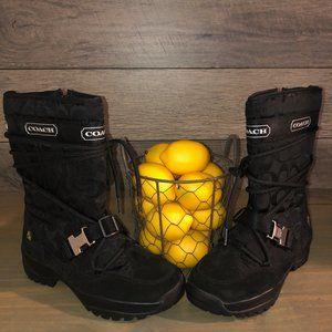NWOT Coach Sela Signature C Winter Snow Boots -6